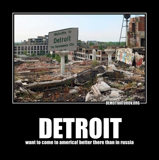 DETROIT want to come to america! better there than in russia